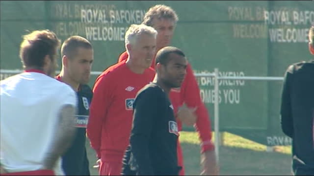 david beckham speaks of hopes of playing for england again; south africa: day beckham with england squad members during training at the 2010 world... - international team soccer stock videos & royalty-free footage