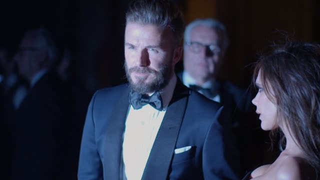david beckham victoria beckham at alexander mcqueen savage beauty fashion gala at the va presented by american express and kering at victoria and... - victoria and albert museum london stock videos & royalty-free footage