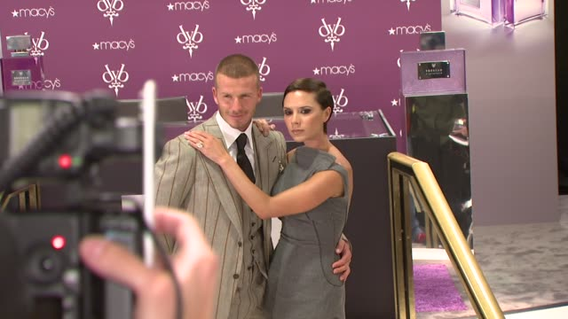 david beckham, victoria beckham at the david beckham and victoria beckham launch beckham signature in new york at new york ny. - launch event stock videos & royalty-free footage