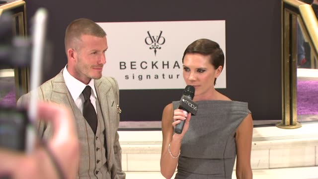 david beckham, victoria beckham at the david beckham and victoria beckham launch beckham signature in new york at new york ny. - 2008 stock videos & royalty-free footage