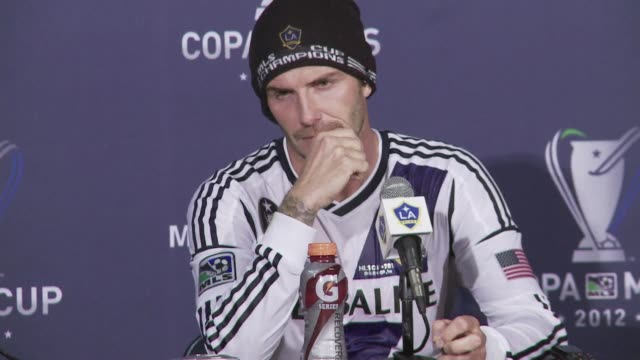 david beckhams major league soccer career ended in triumph saturday as the los angeles galaxy scored three second half goals in a 31 victory over... - major league soccer stock videos and b-roll footage