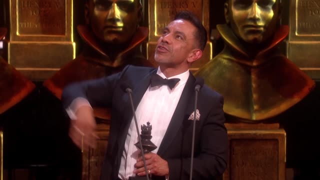 david bedella in the heights best actor in a supporting role for a musical at the olivier awards with mastercard at the royal opera house on april 04... - best supporting actor stock videos & royalty-free footage