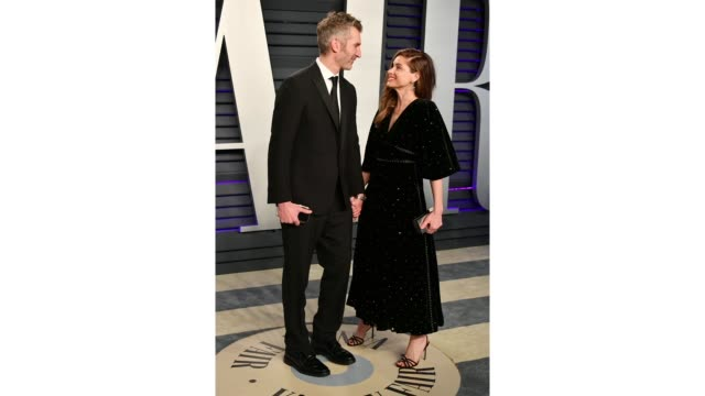 david benioff and amanda peet attend the 2019 vanity fair oscar party hosted by radhika jones at wallis annenberg center for the performing arts on... - vanity fair stock videos and b-roll footage
