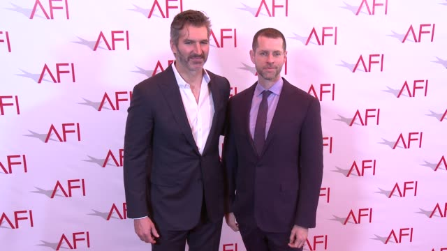 david benioff and d. b. weiss at four seasons hotel los angeles at beverly hills on january 06, 2017 in los angeles, california. - four seasons hotel stock videos & royalty-free footage