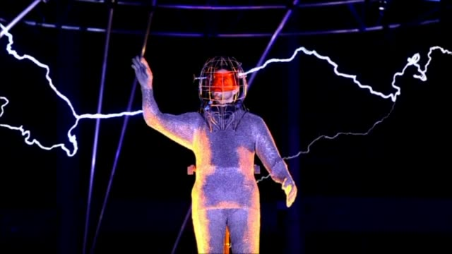 david blaine the us magician stuntman and all round daredevil is going electric standing for three days and nights in the middle of a million volts... - stunt person stock videos & royalty-free footage