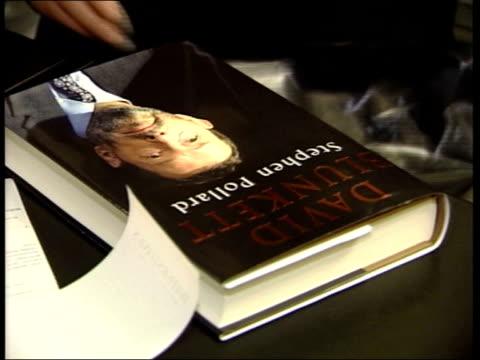 'david blunkett' biography book put into plastic bag - david blunkett stock videos & royalty-free footage