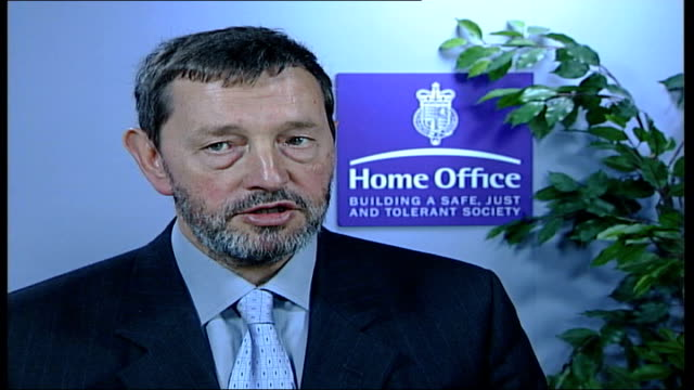 david blunkett interview; england: london: int david blunkett mp interview sot - objective is to build confidence in criminal justice system / been... - david blunkett stock videos & royalty-free footage