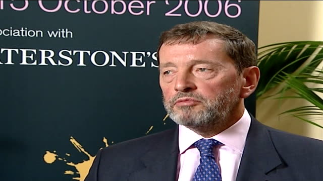 david blunkett interview; - one of the things i'm proudest of is persuading the government that identity cards and a database are necessary built on... - politics and government点の映像素材/bロール