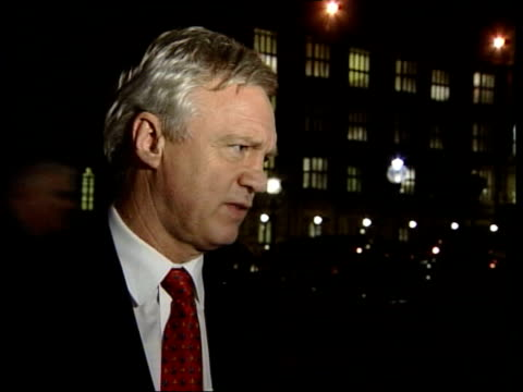 david blunkett receives full support of tony blair following abuse of power allegations; itn ext/night david davis mp interview sot - the actual... - david blunkett stock videos & royalty-free footage