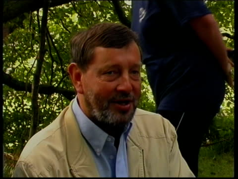 David Blunkett visits Hesley Wood summer camp ENGLAND South Yorkshire Sheffield Hesley Wood Summer Camp EXT David Blunkett MP arrival and greeted /...