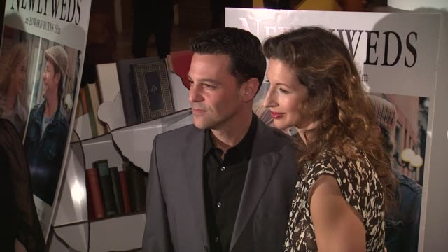 David Boreanaz and guest at NEWLYWEDS New York Premiere at Crosby Street Hotel on in New York NY