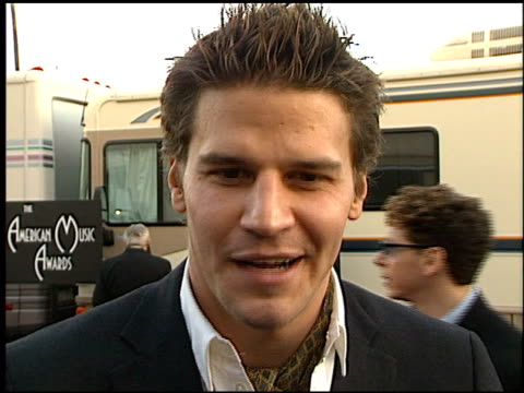 David Boreanaz at the 1999 American Music Awards entrances at the Shrine Auditorium in Los Angeles California on January 11 1999