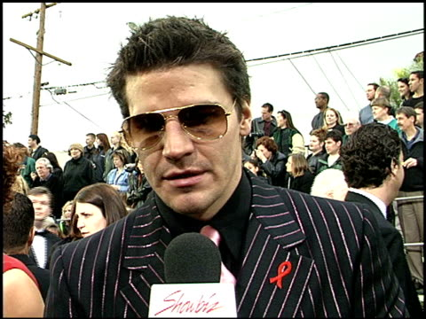 David Boreanaz at the 2001 Screen Actors Guild SAG Awards arrivals at the Shrine Auditorium in Los Angeles California on March 11 2001