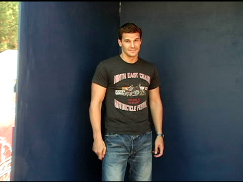 David Boreanaz at the 2005 Teen Choice Awards Exclusive onsite Portrait Studio at the Universal Amphitheatre in Universal City California on August...