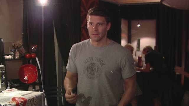 david boreanaz at the bertolli at the presenters gift lounge celebrating the primetime emmy awards hosted by aeg ehrlich ventures at los angeles ca. - gift lounge stock videos & royalty-free footage