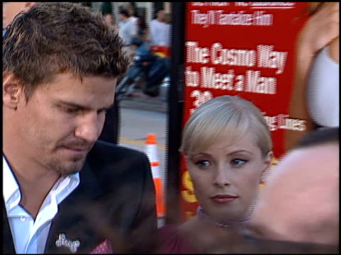 David Boreanaz at the 'Legally Blonde' Premiere at the Mann Village Theatre in Westwood California on June 26 2001