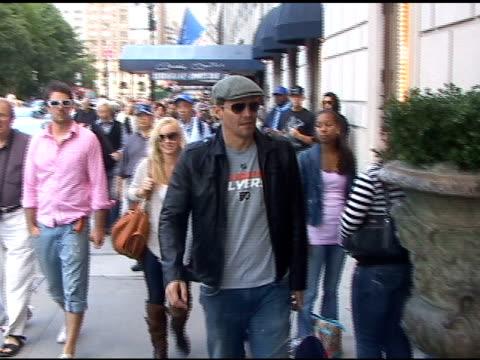 David Boreanaz at the Ritz Carlton Hotel in New York at the Celebrity Sightings in New York at New York NY