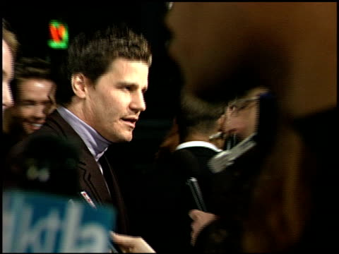 david boreanaz at the 'valentine' premiere at grauman's chinese theatre in hollywood california on february 1 2001 - mann theaters stock-videos und b-roll-filmmaterial