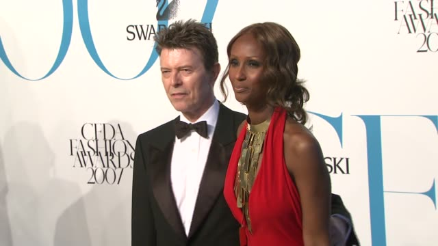 David Bowie and Iman at the The 2007 CFDA Awards at New York Public Library in New York New York on June 4 2007