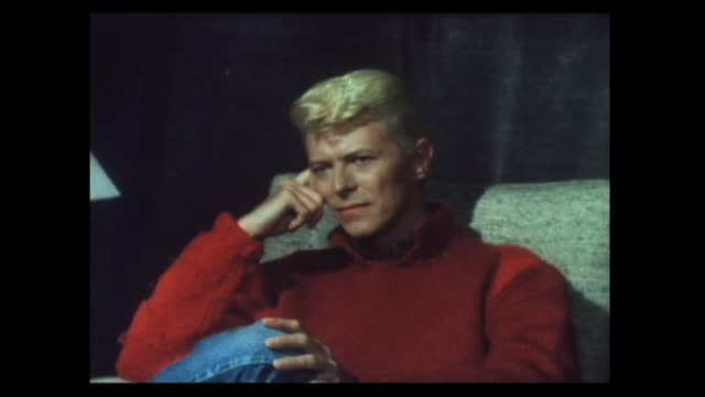 stockvideo's en b-roll-footage met david bowie interviewed in 1983 about liking some of the music produced by rolling stone mick jagger but not much of the music of former beatle paul... - david bowie