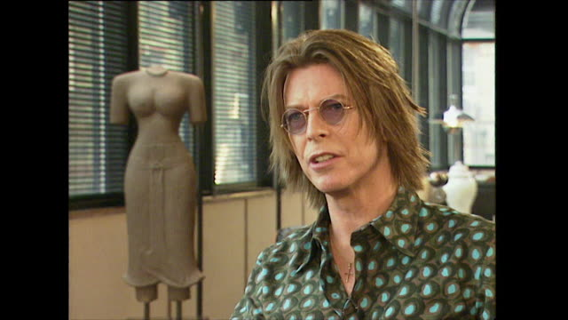 david bowie on the internet saying 'we haven't even seen the tip of the icebergwe are on the cusp of something exhilarating and terrifying' - rocking stock videos & royalty-free footage
