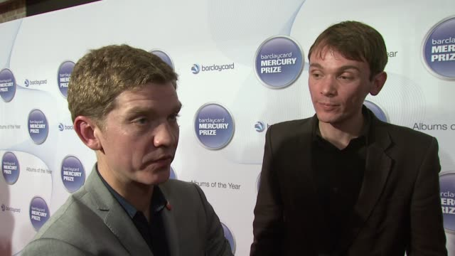 david brewis and peter brewis of field music on being at the mercury prize and on their album at barclaycard mercury music prize 2012 at the... - mercury music prize stock-videos und b-roll-filmmaterial