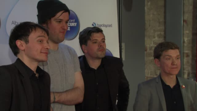 david brewis peter brewis, andrew lowther and kev dosdale of field music at barclaycard mercury music prize 2012 at the roundhouse on november 01,... - mercury music prize stock-videos und b-roll-filmmaterial