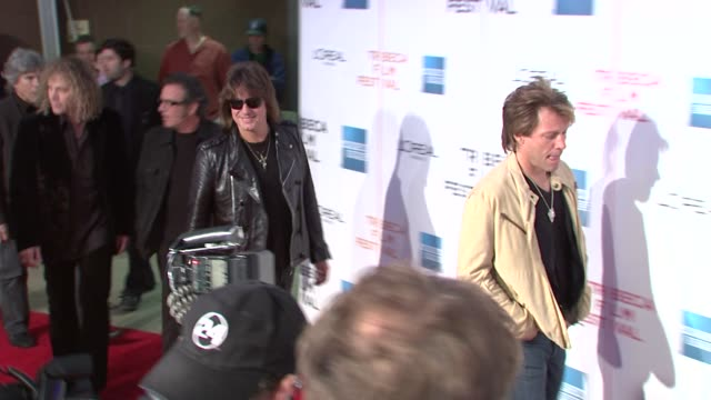 David Bryan Tico Torres Richie Sambora and Jon Bon Jovi at the 8th Annual Tribeca Film Festival 'Bon Jovi When We Were Beautiful' at New York NY