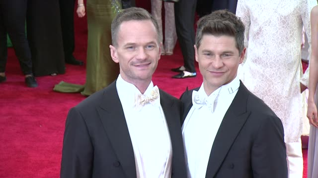 David Burtka and Neil Patrick Harris at China Through The Looking Glass Costume Institute Benefit Gala Arrivals at Metropolitan Museum of Art on May...