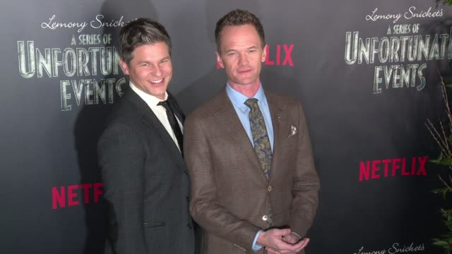 David Burtka and Neil Patrick Harris at Lemony Snicket's A Series of Unfortunate Events World Premiere Presented by Netflix at AMC Lincoln Square...