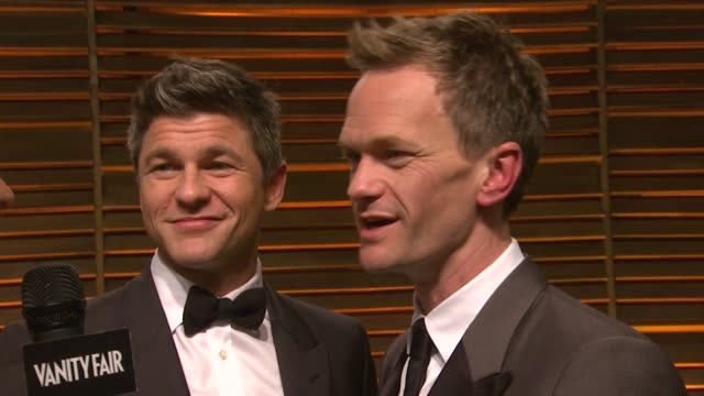 INTERVIEW David Burtka and Neil Patrick Harris at the 2014 Vanity Fair Oscar Party Hosted By Graydon Carter Arrivals on March 02 2014 in West...