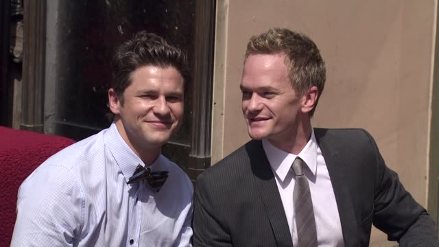 David Burtka and Neil Patrick Harris at the Neil Patrick Harris Honored With Star On The Hollywood Walk Of Fame at Hollywood CA