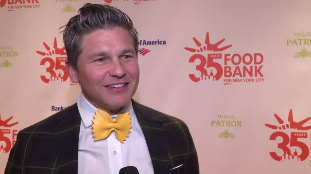 INTERVIEW David Burtka on helping the Food Bank at 2018 Food Bank For New York City's Can Do Awards Dinner at Cipriani Wall Street on April 17 2018...