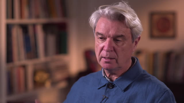 david byrne talks about collaborating with fatboy slim on their album here lies love - brian eno stock videos & royalty-free footage