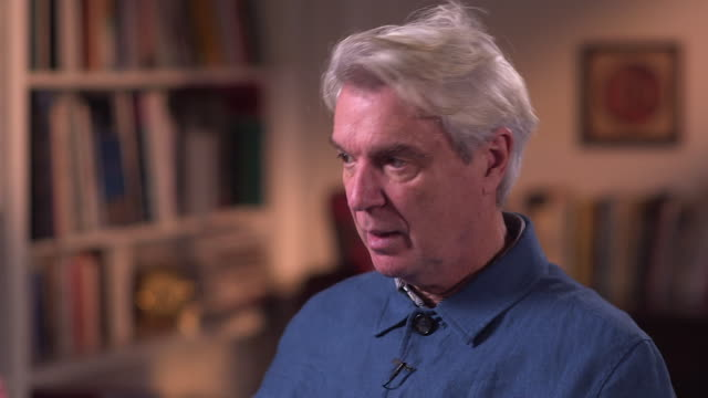 david byrne talks about the rereleased talking heads album 'true stories' - brian eno stock videos & royalty-free footage