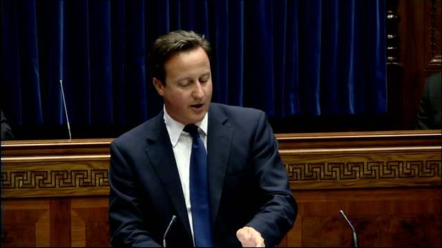 David Cameron addresses Northern Ireland Assembly David Cameron MP speech continued SOT There are some areas where you are very much in the lead...