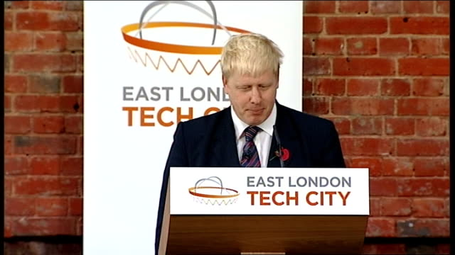 david cameron and boris johnson speeches; boris johnson introduced sot boris johnson speech sot thanks for having me here and introductory comments i... - link chain part stock videos & royalty-free footage