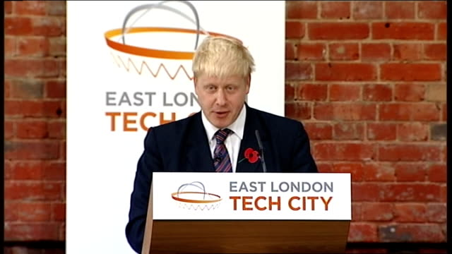 david cameron and boris johnson speeches boris johnson speech continued sot we're putting in the transport infrastructure investment that will make... - connection in process stock-videos und b-roll-filmmaterial