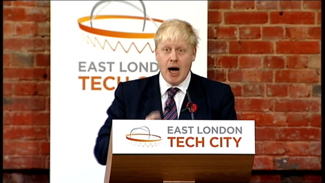 david cameron and boris johnson speeches boris johnson speech continued sot where do you think the maxim gun was invented /it was invented in hackney... - penicillin stock videos and b-roll footage