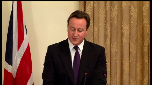 david cameron and hamid karzai press conference; david cameron press conference sot - thank you for very warm welcome/ have seen the progress/ have... - international security assistance force stock videos & royalty-free footage