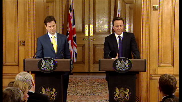 David Cameron and Nick Clegg joint press conference David Cameron answering questions SOT On Iran don't think there is a mixed message there is a...