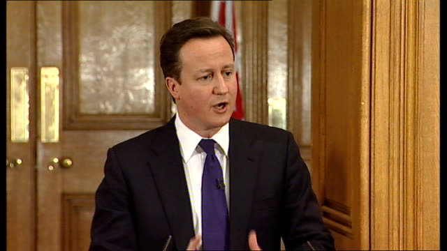 david cameron and nick clegg joint press conference david cameron answering questions sot difficult decisions to get the economy back on track / vat... - cut video transition stock videos & royalty-free footage