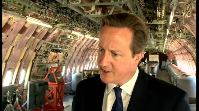 david cameron announces 11 billion pound defence spending england david cameron mp interview sot because we've managed the economy well because we've... - face down stock videos & royalty-free footage