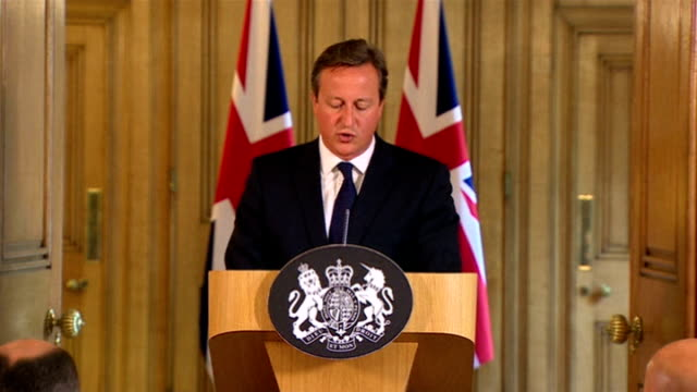 david cameron announces new measures to counter islamic state threat england london 10 downing street int david cameron mp press conference sot many... - greater london stock videos and b-roll footage