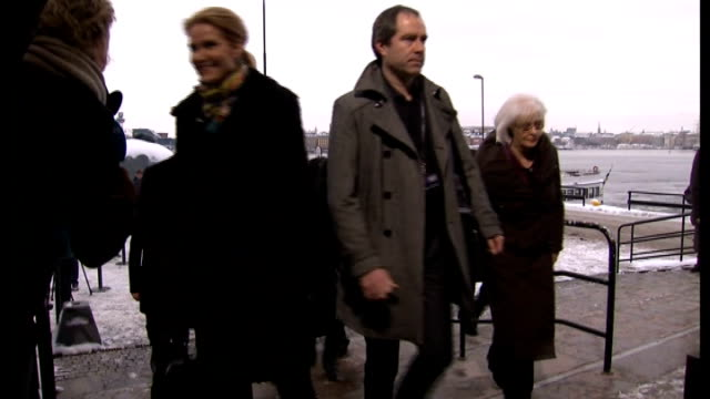 stockvideo's en b-roll-footage met david cameron arrives in sweden for a summit of nordic and baltic leaders; sweden: stockholm: * warning contains flash photography * ext general... - veerboot