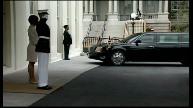 david cameron arriving at the white house usa washington dc white house ext car carrying david cameron mp arriving / david cameron and sir nigel... - official car stock videos & royalty-free footage