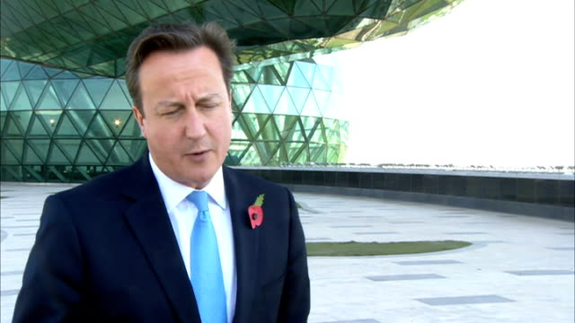 david cameron at airbase in dubai ext david cameron mp interview sot we are in a global economic race vital britain links up with some of the fastest... - things that go together stock videos & royalty-free footage