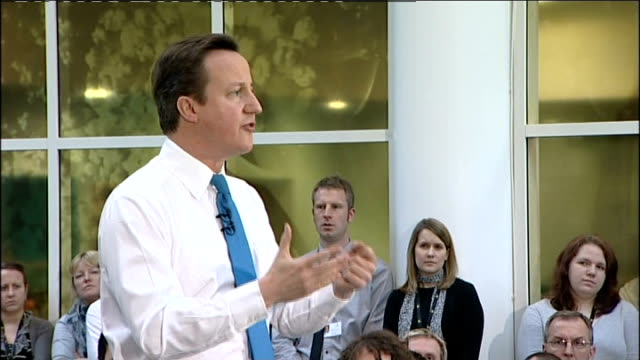 david cameron at cameron direct meeting in bradford q are you going to lock into any education standards with universities david cameron sot key... - public building stock videos & royalty-free footage