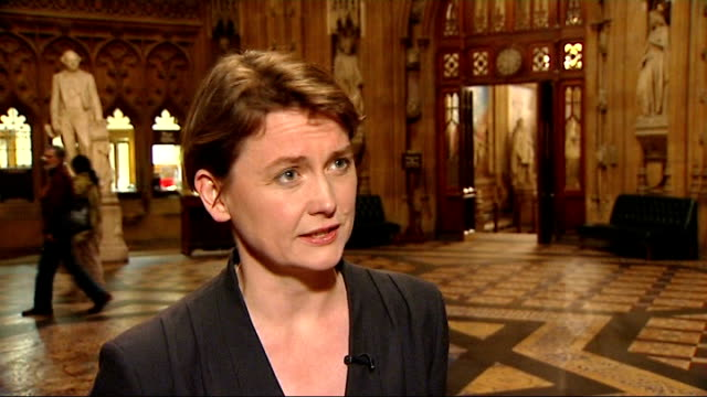 david cameron attacks labour's 'spendaholic' culture; london: yvette cooper mp interview sot - david cameron is still being very slippery, we've got... - vince cable stock videos & royalty-free footage
