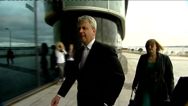 david cameron backs andrew lansley over nhs reforms / simon hughes calls for his replacement file / date unknown ext andrew lansley arriving at city... - replacement stock videos and b-roll footage
